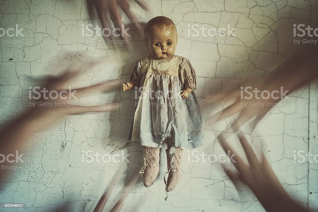 Reaching For Her stock photo