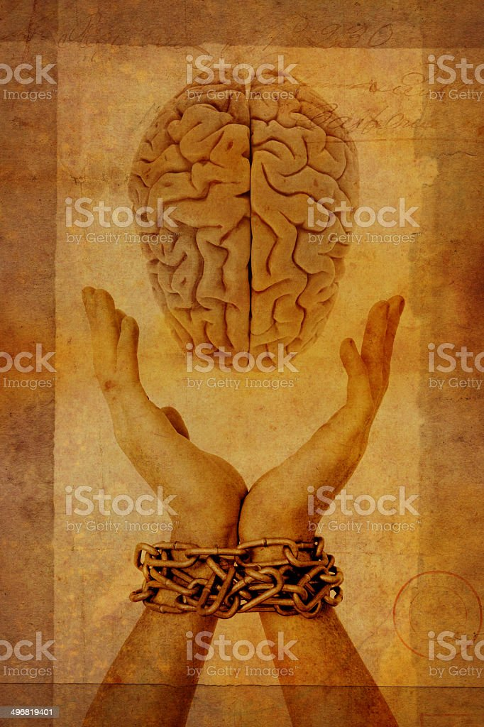 Reaching for Higher Thinking stock photo