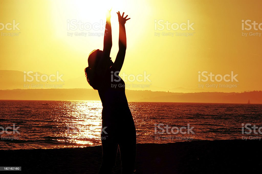 Reaching for the Divine royalty-free stock photo