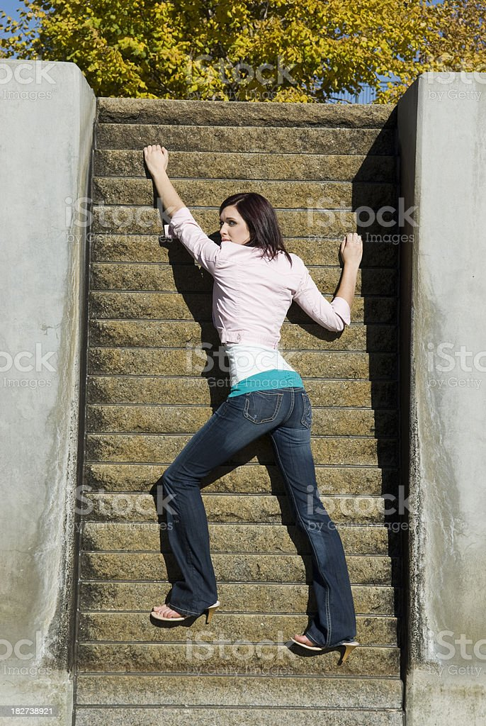 Reaching for the Highest stock photo
