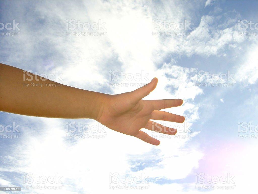 reaching hand royalty-free stock photo