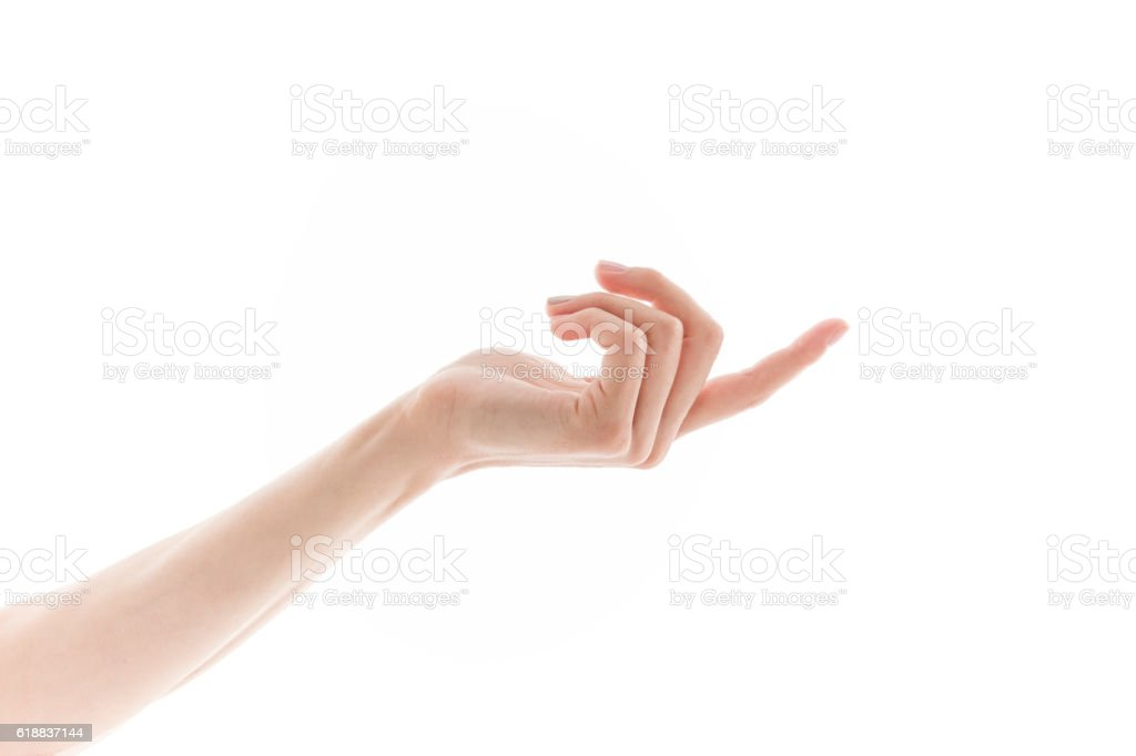 Reaching hand stock photo