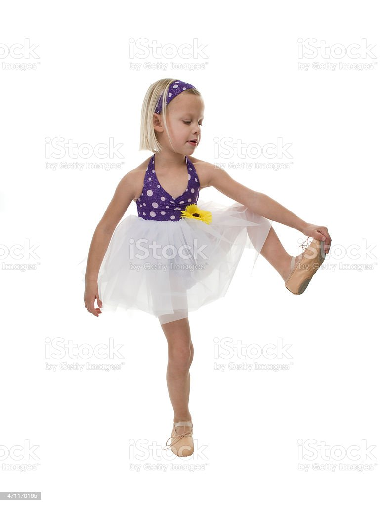 Reaching her toes stock photo