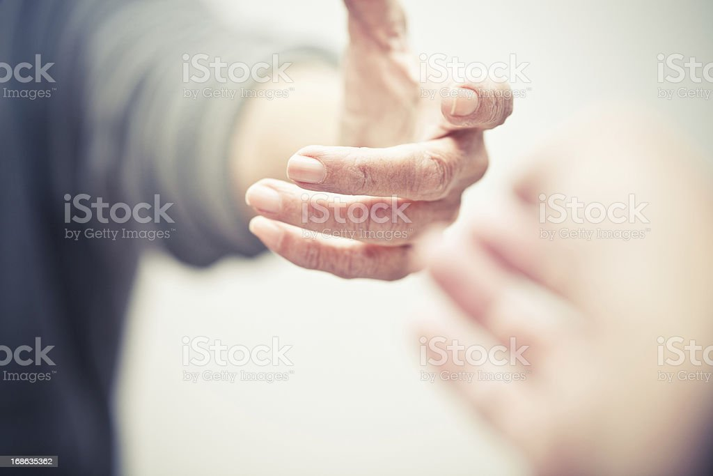 reaching stock photo