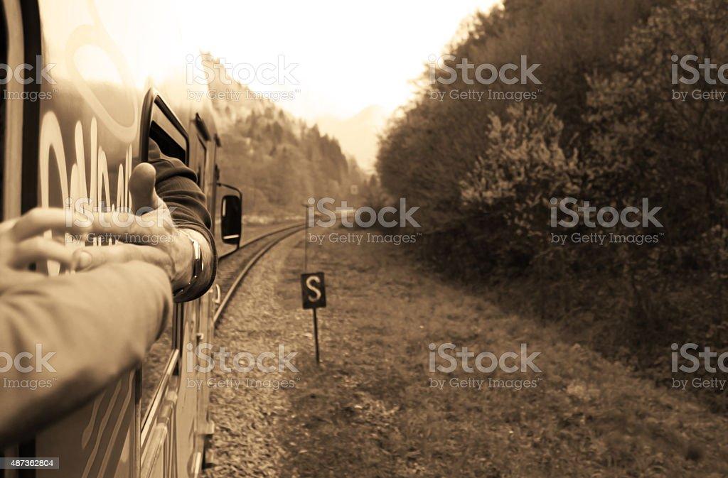 Reaching stock photo