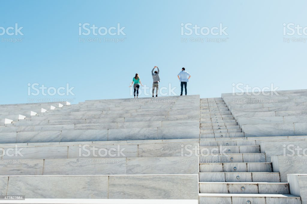 Reaching The Top stock photo