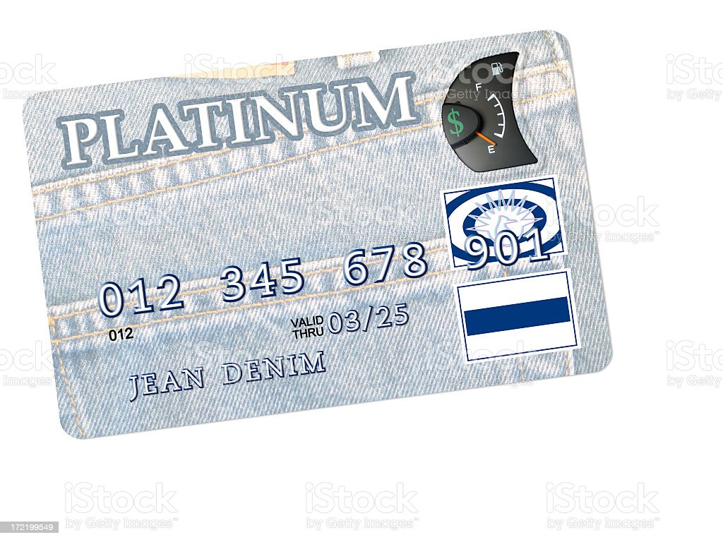Reaching Your Credit Limit: Fake Credit Card with Empty Gauge royalty-free stock photo