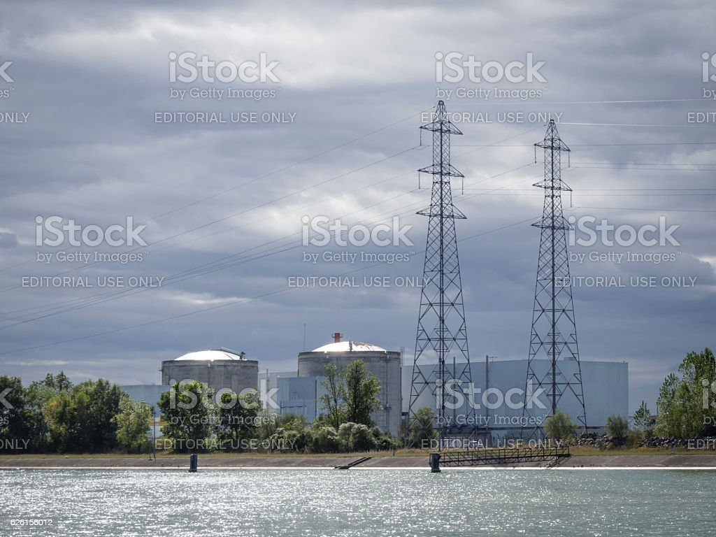 Reactor Blocks Of Nuclear Power Plant Fessenheim Foto De