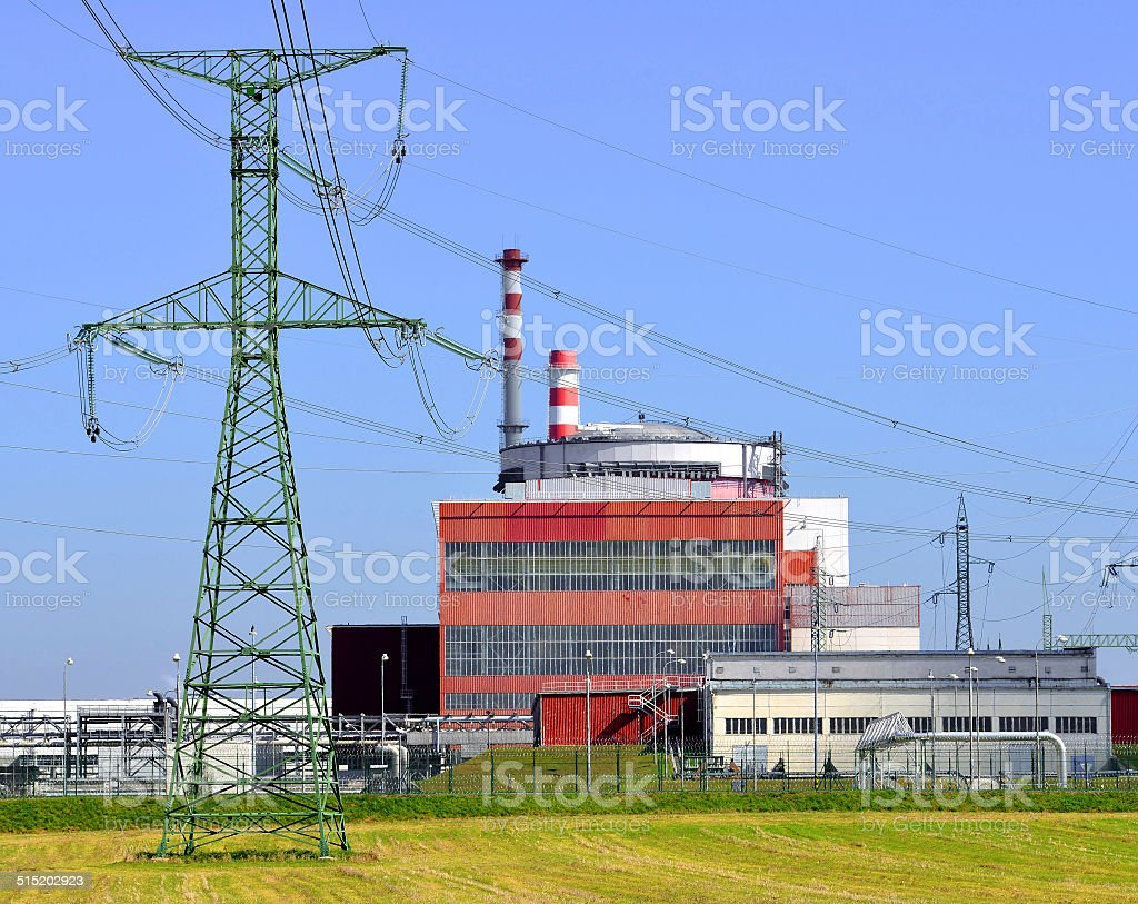 Reactor of nuclear power plant stock photo
