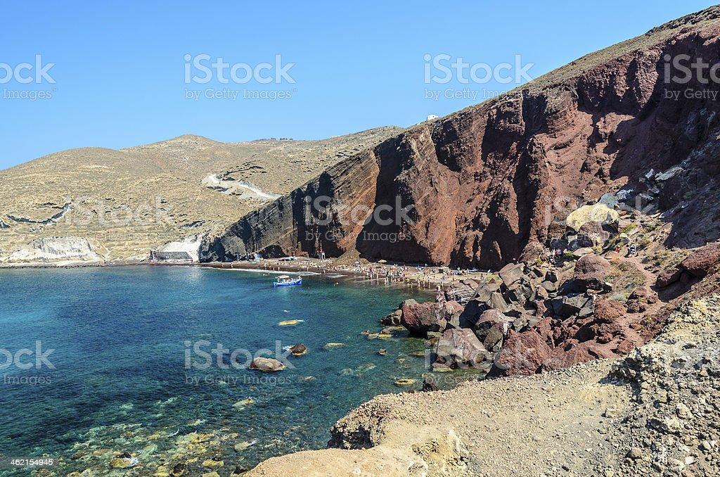 Read Beach on Santorini stock photo