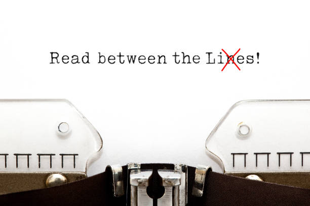 Read Between The Lies Concept On Typewriter Text Read Between The Lies typed on vintage typewriter. The usually used word in the original idiom Lines is changed to Lies. dishonesty stock pictures, royalty-free photos & images