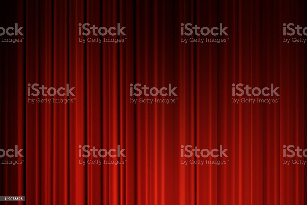 Read curtains with dark corners royalty-free stock photo