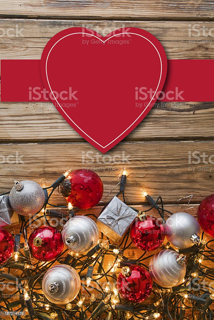 Read heart above various ornaments royalty-free stock photo