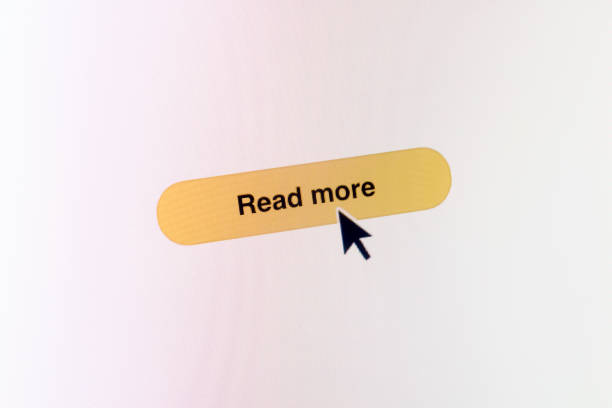 read more web button on webpage - mouse pointer stock photos and pictures