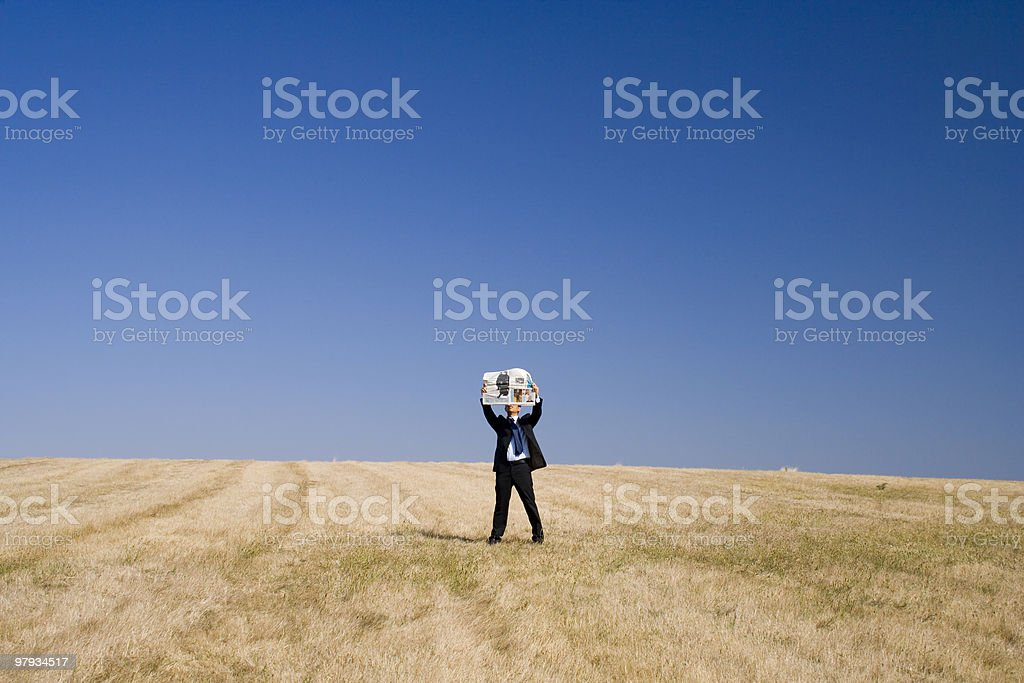 Read news about the World royalty-free stock photo