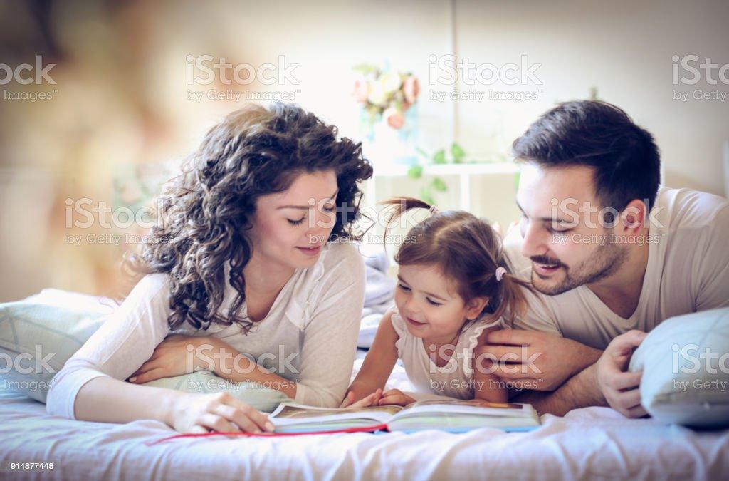 Read stories your children. stock photo