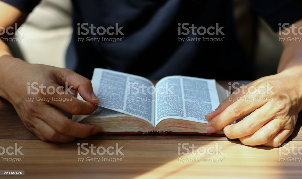 read the bible royalty-free stock photo