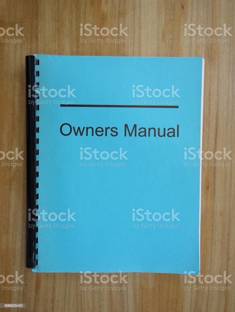 Read the manual stock photo