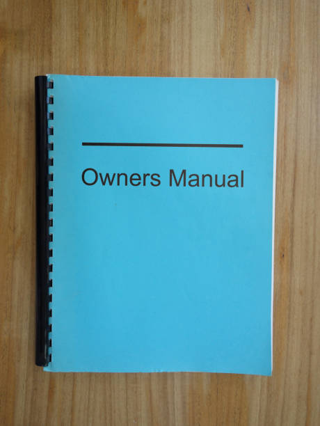 Read the manual stock photo