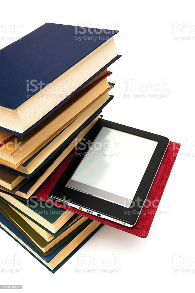 reader and books royalty-free stock photo
