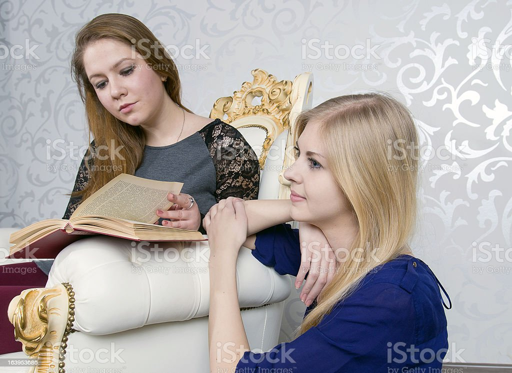 Reading a book and dreams royalty-free stock photo