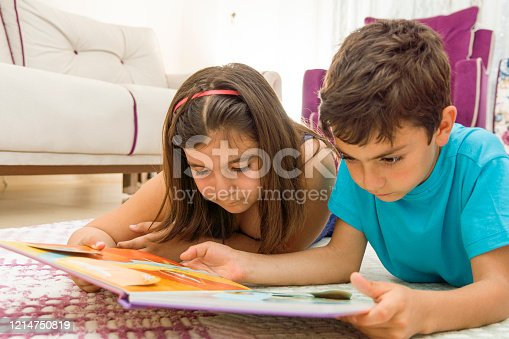 istock Reading a book at home 1214750819