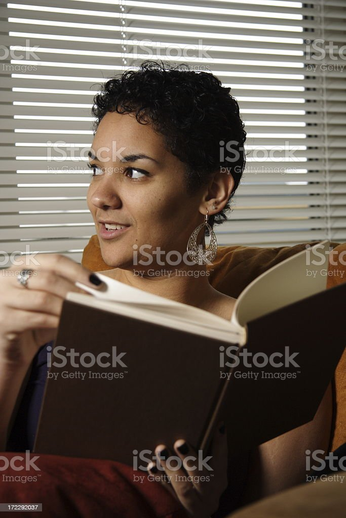 reading a book royalty-free stock photo