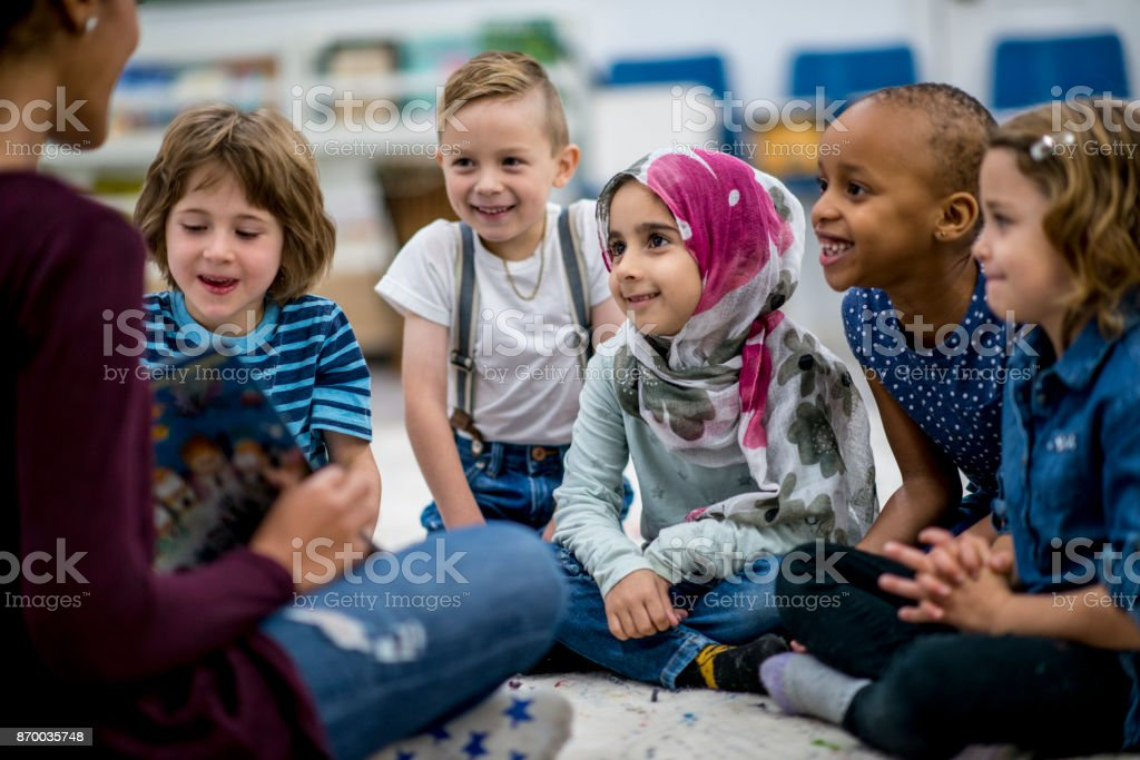 Reading A Storybook stock photo