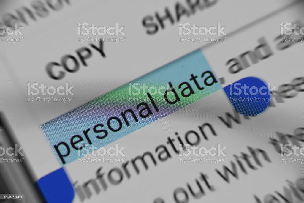 Reading about Personal Data security online zbiór zdjęć royalty-free