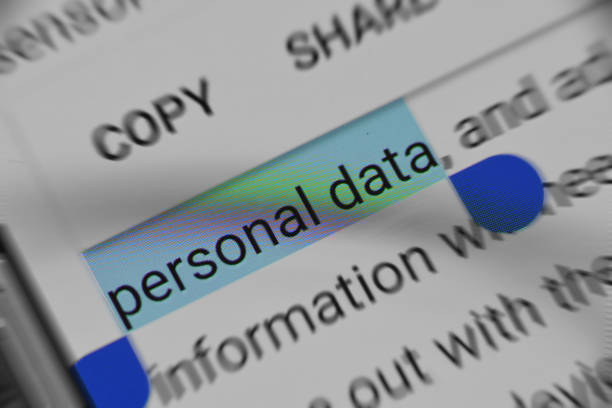 Reading about Personal Data security online Reading about Personal Data security online information medium stock pictures, royalty-free photos & images