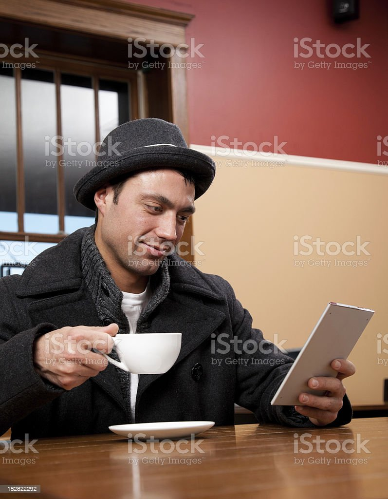 Reading an eBook royalty-free stock photo
