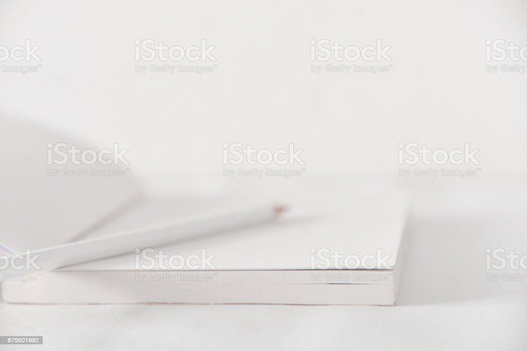 Reading and writing white tone. royalty-free stock photo