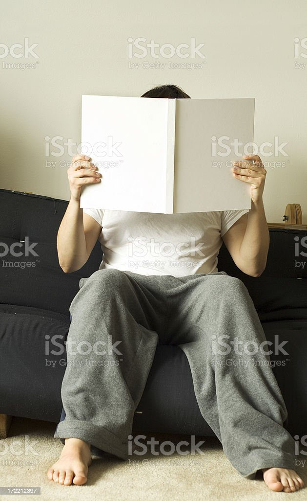 Reading at Home royalty-free stock photo