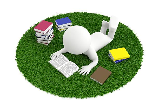 reading book carpet stock photo