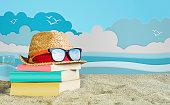 istock Reading Book on Beach 948400656