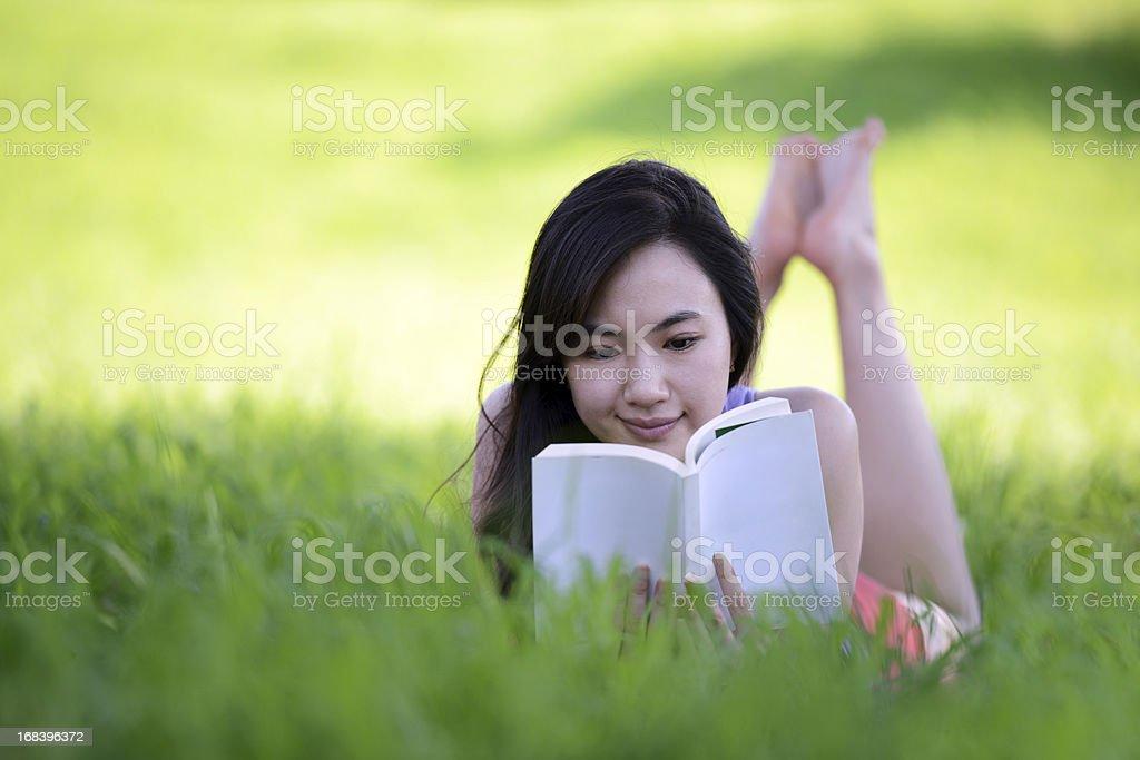 Reading Book - XXXXXLarge royalty-free stock photo