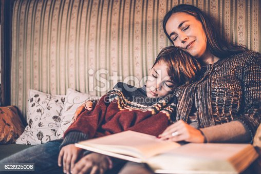 istock Reading Christmas Tales 623925006