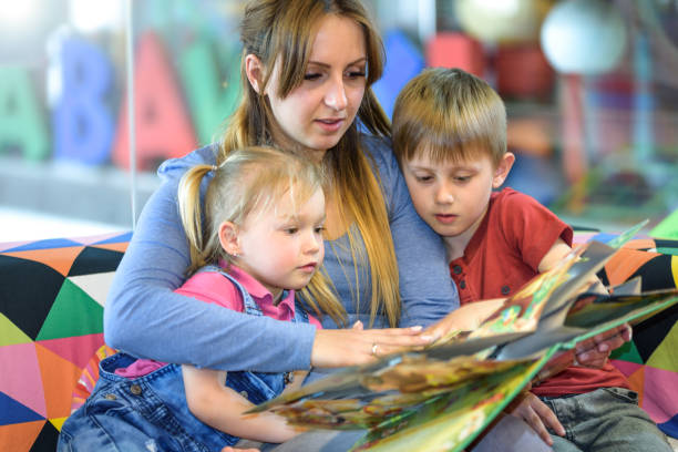 Reading fairy tales stock photo