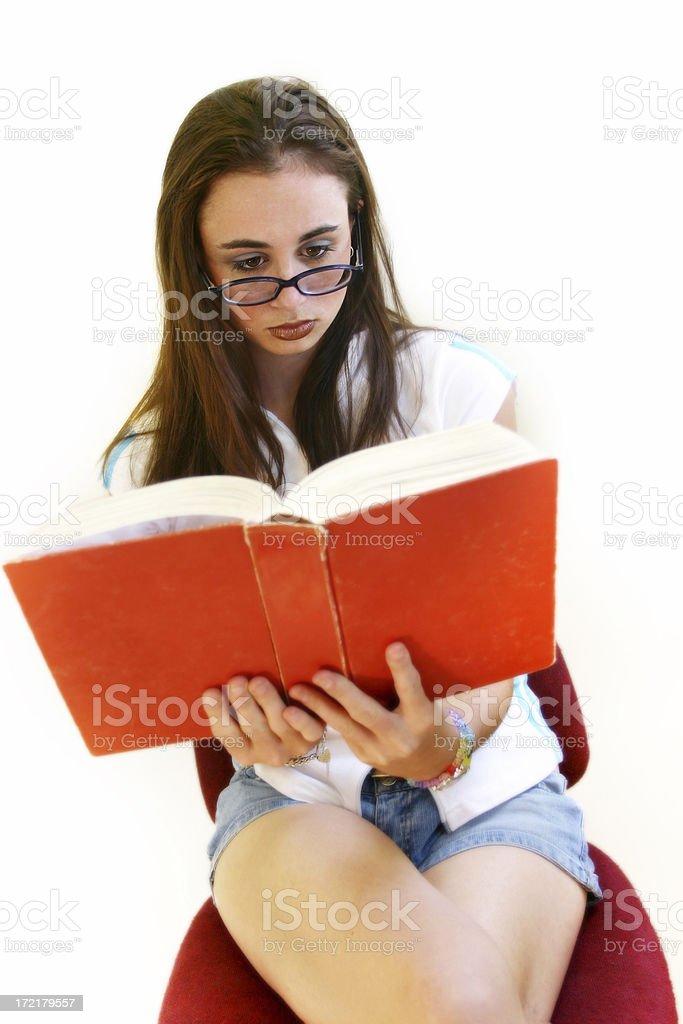 Reading for Pleasure stock photo