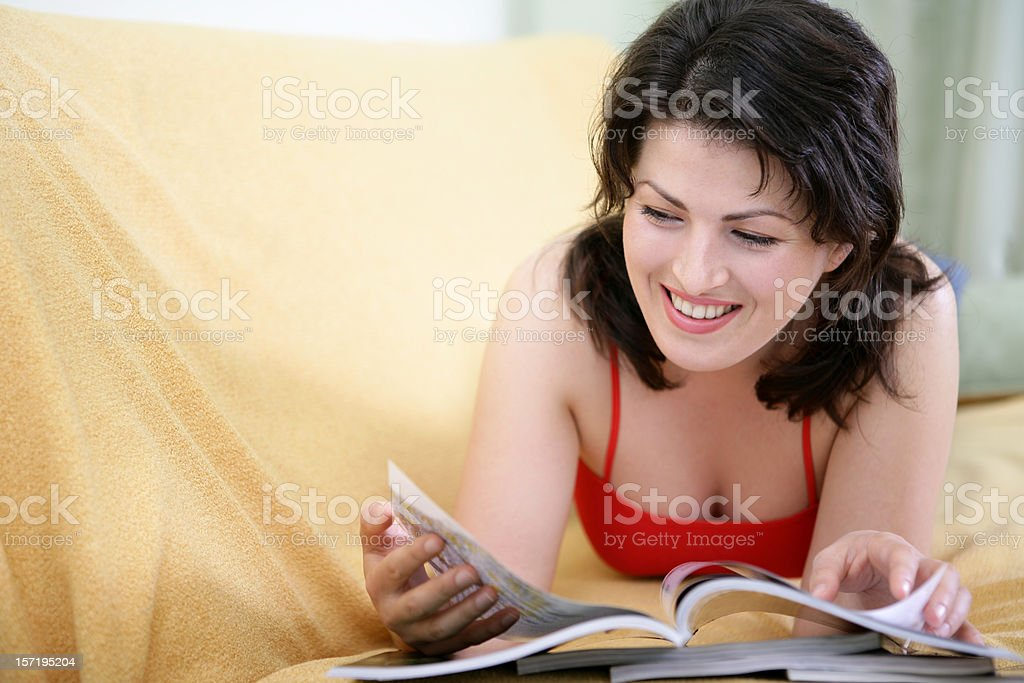 Reading girl royalty-free stock photo