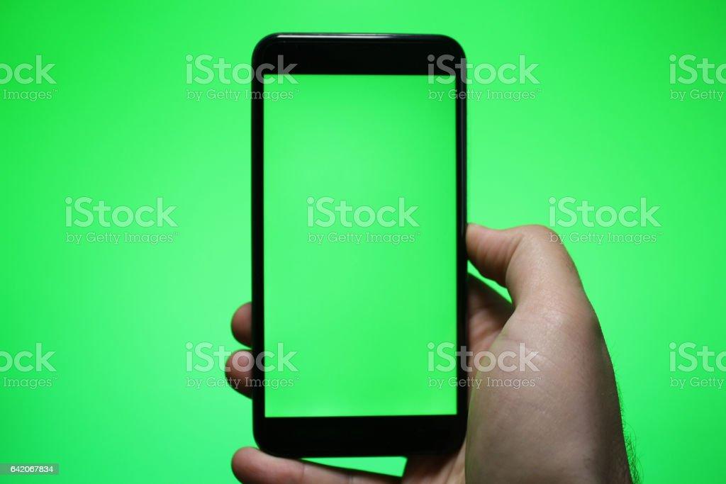 Reading green screen stock photo