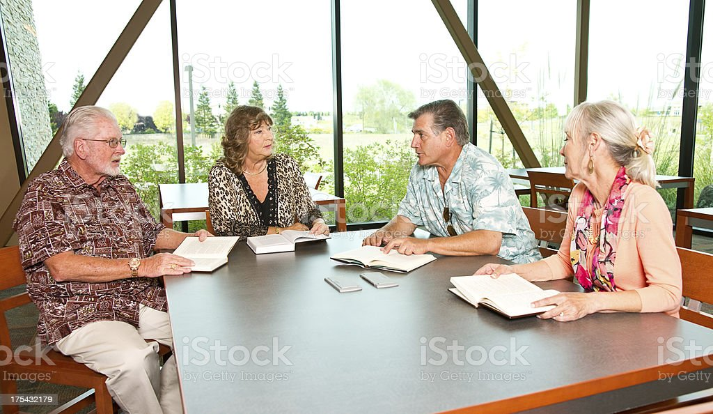 Reading Group stock photo