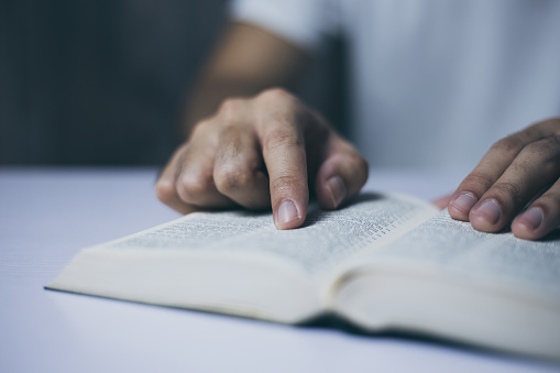 Reading Holy Bible Stock Photo - Download Image Now