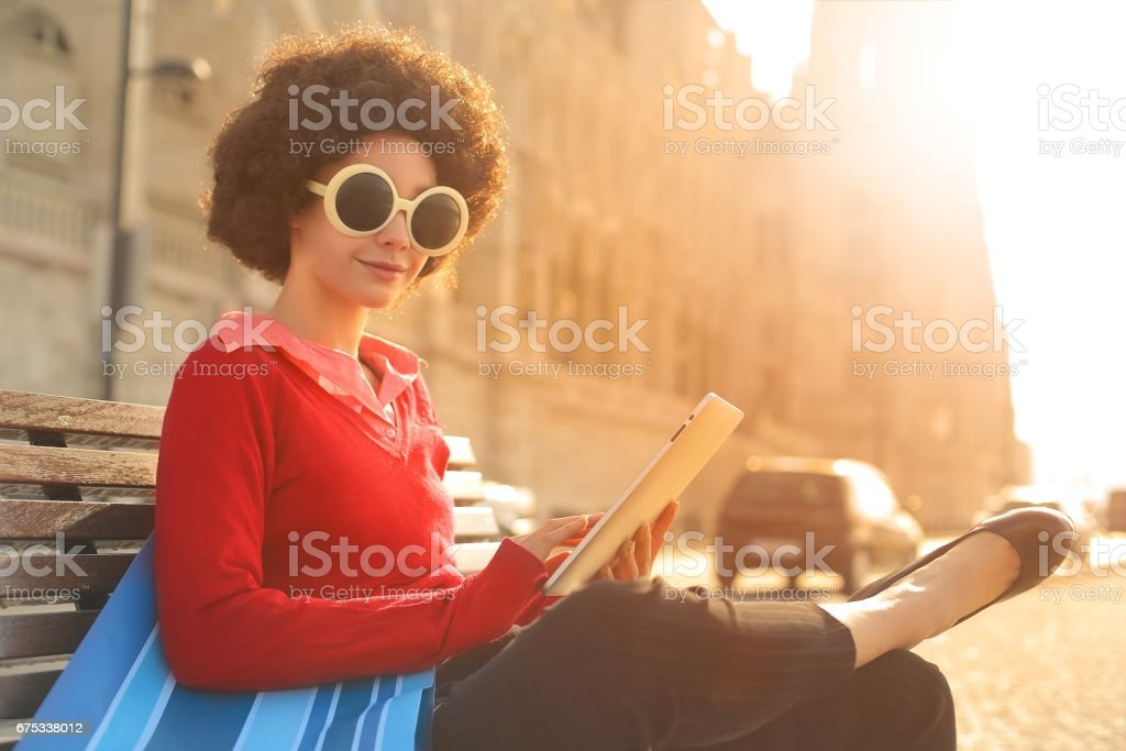 Reading in budapest stock photo
