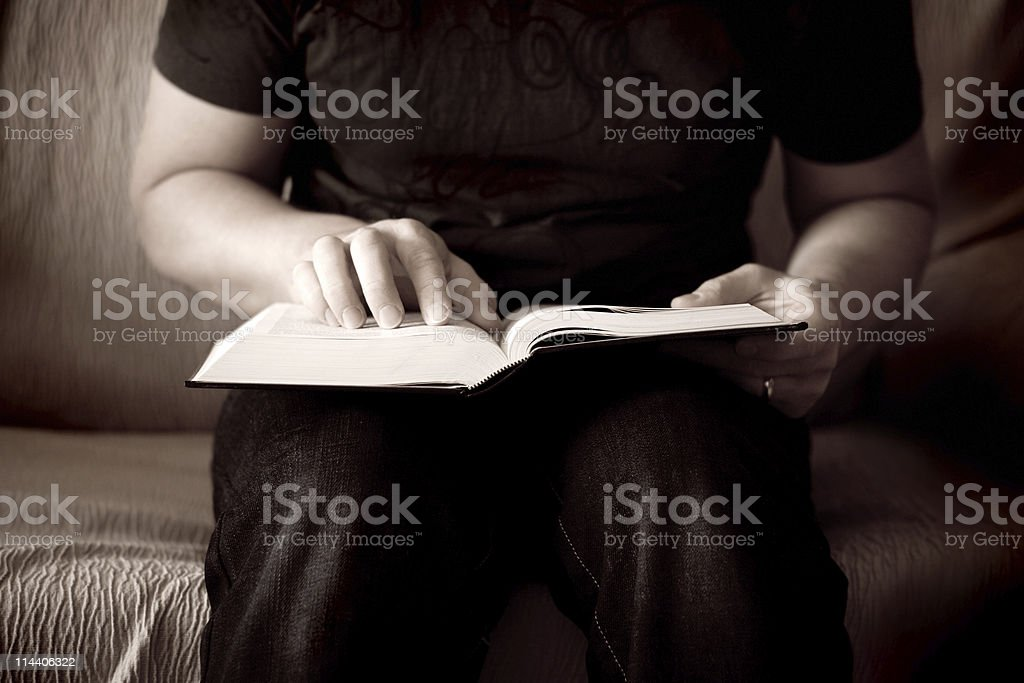 Reading in the Light stock photo