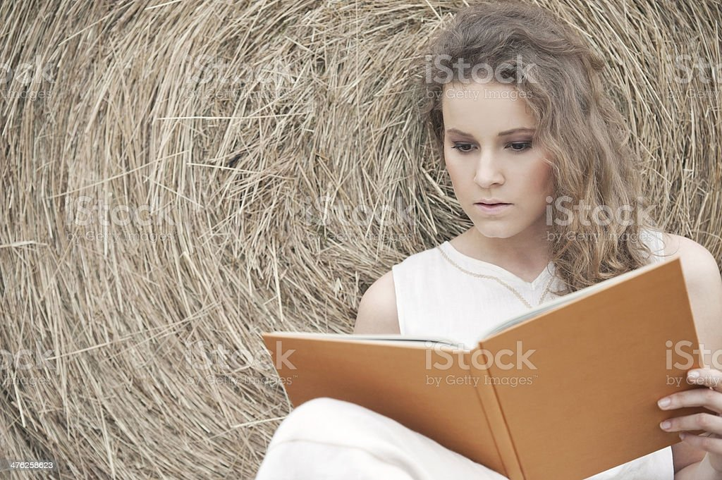Reading in the Nature royalty-free stock photo