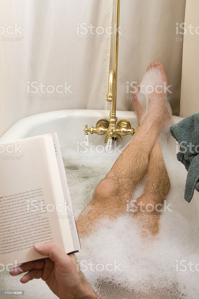 Reading In The Tub Vertical Stock Photo & More Pictures of Adult ...