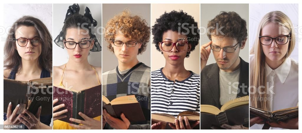 Reading is ageless stock photo