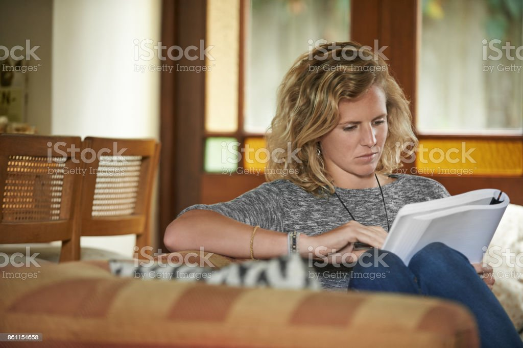 Reading is the perfect way to relax royalty-free stock photo