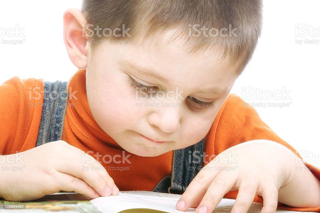 Reading kid stock photo